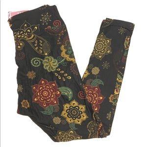 New Floral Paisley Adult Yoga Peachskin Leggings